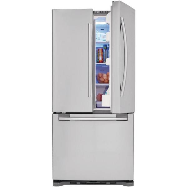 Samsung 33 In W 17 5 Cu Ft French Door Refrigerator In Stainless Steel And Counter Depth Rf18hfenbsr 2 The Home Depot
