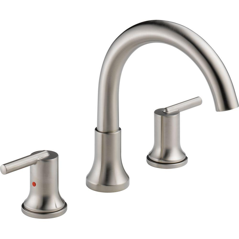 Delta Trinsic 2-Handle Deck-Mount Roman Tub Faucet Trim Kit Only in ...