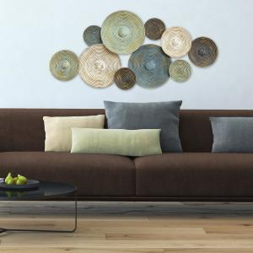 Stratton Home Decor Asheville Textured Metal Plates Wall Decor by Stratton Home Decor