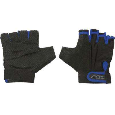 Medium Blue Bike Gloves