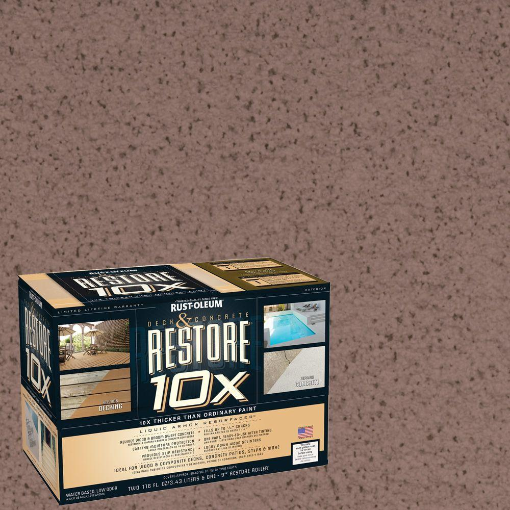 Rust-Oleum Restore 2-gal. Clay Deck and Concrete 10X Resurfacer