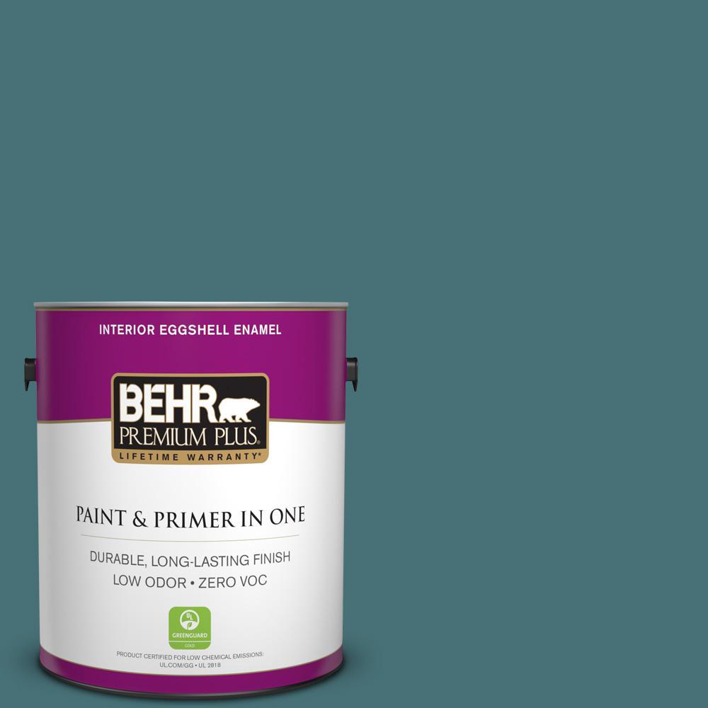 1 gal. #PPU13-02 Juniper Berries Zero VOC Eggshell Enamel Interior Paint
