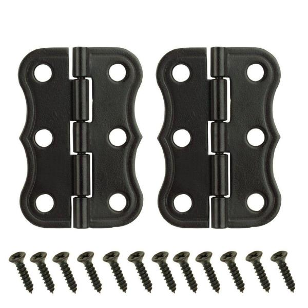 2 in. x 1-3/8 in. Oil-Rubbed Bronze Decorative Broad Hinges