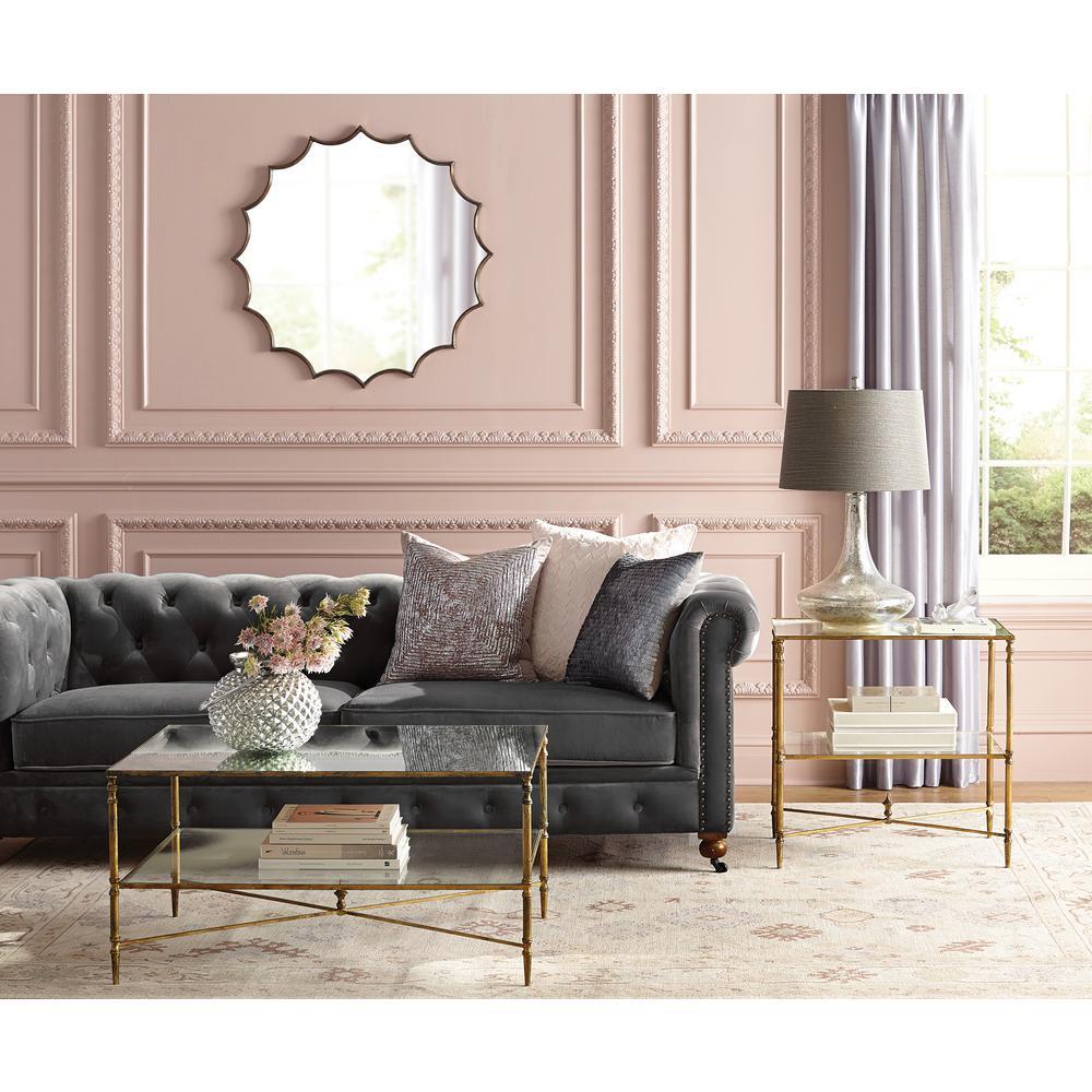 Home Decorators Collection Gordon Grey Velvet Sofa 0849400120 The
