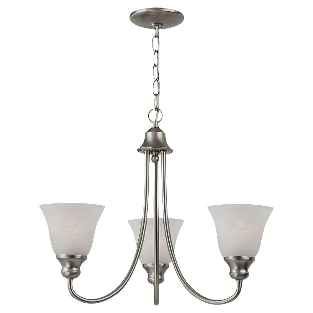 Sea Gull Lighting Windgate 3-Light Brushed Nickel Single-Tier Chandelier