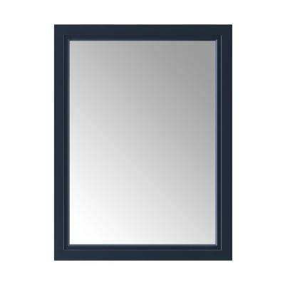 24.00 in. W x 32.00 in. H Framed Rectangular  Bathroom Vanity Mirror in Midnight Blue