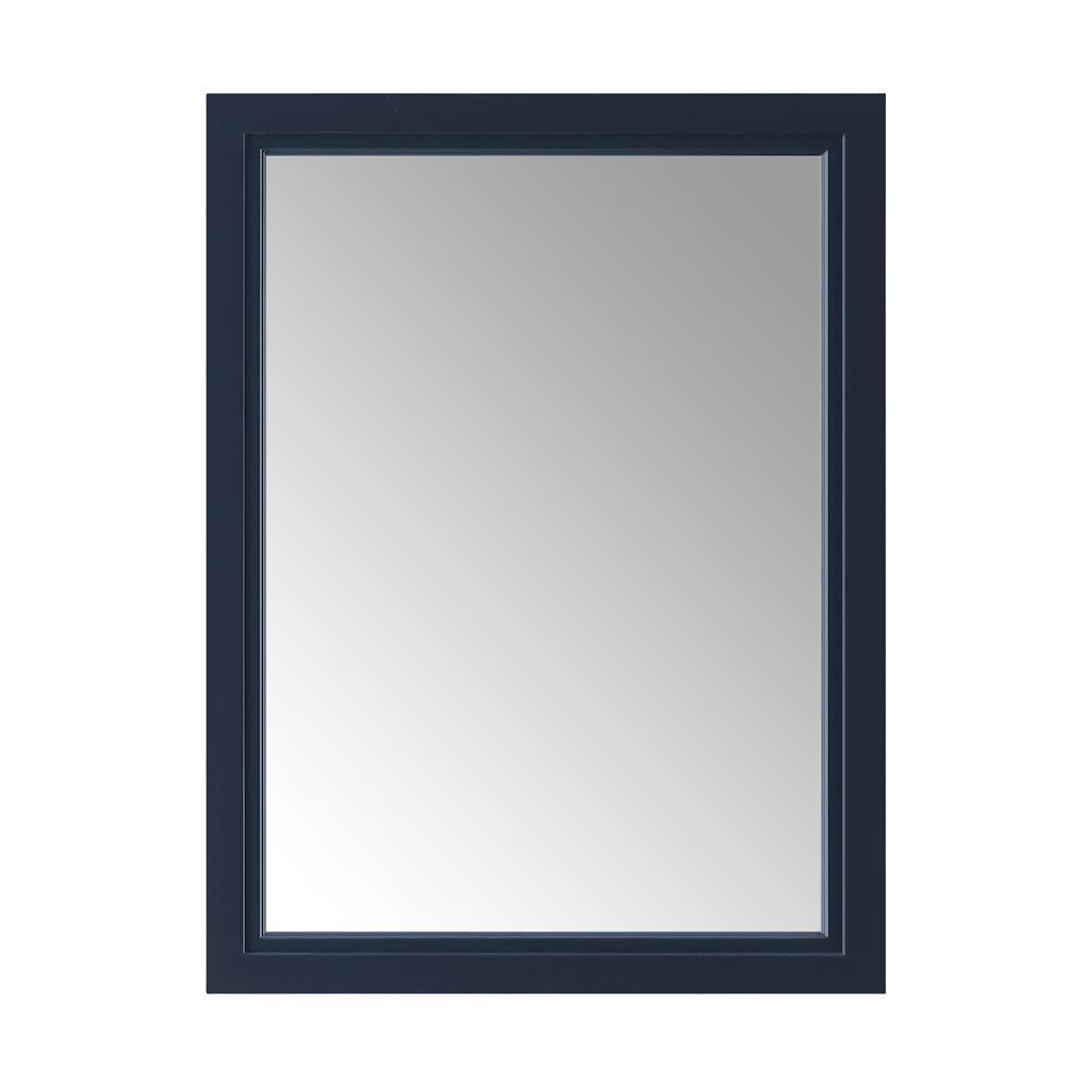 24.00 in. W x 32.00 in. H Framed Rectangular  Bathroom Vanity Mirror in Midnight Blue