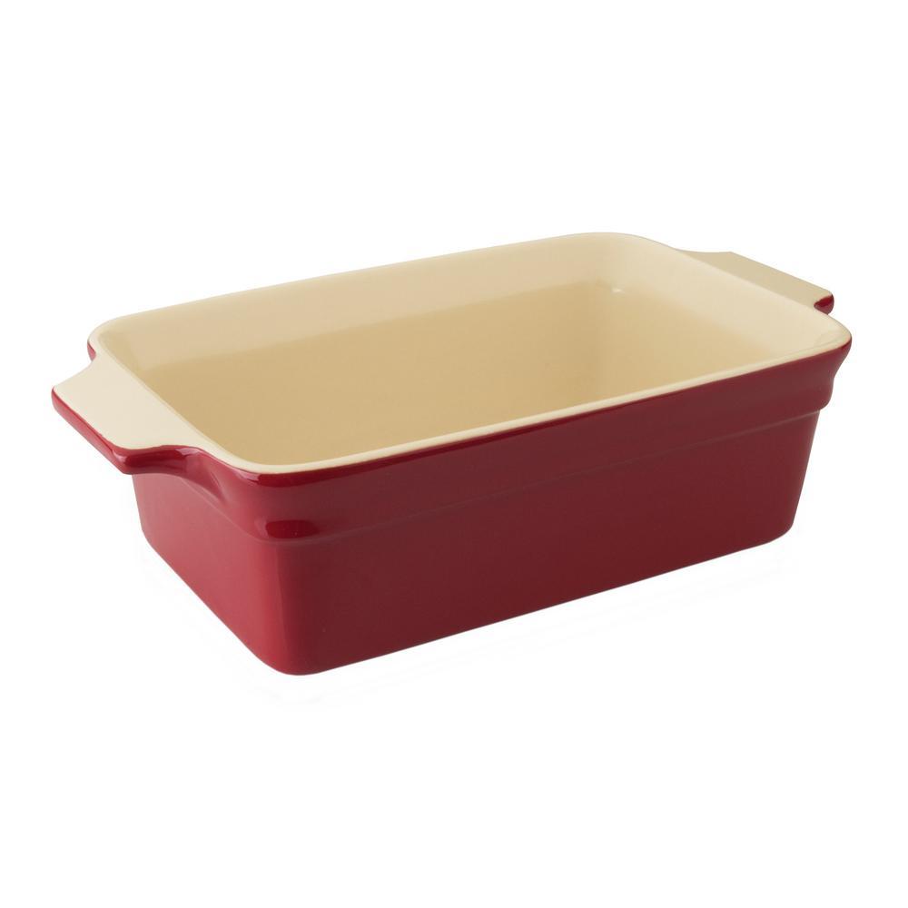 Geminis 2 Qt. Rectangular Baking Loaf Dish 11.5 in. x 6.5 in. x 3.5 in.