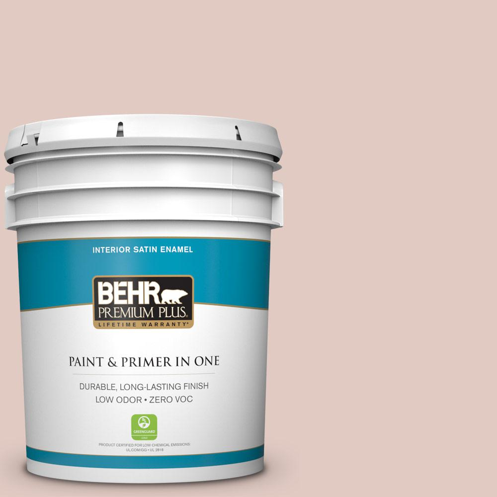 BEHR Premium Plus Home Decorators Collection 5-gal. #HDC-NT-10 Victorian Cameo Zero VOC Satin Enamel Interior Paint
