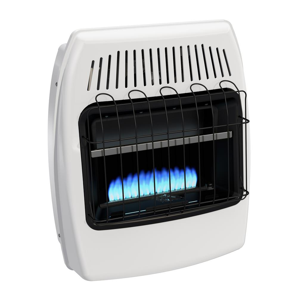Wall Heater Indoor Home Cabin Garage Blue Flame Vent Free