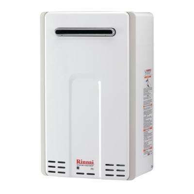 High Efficiency 9.8 GPM Residential 199,000 BTU Natural Gas Exterior Tankless Water Heater