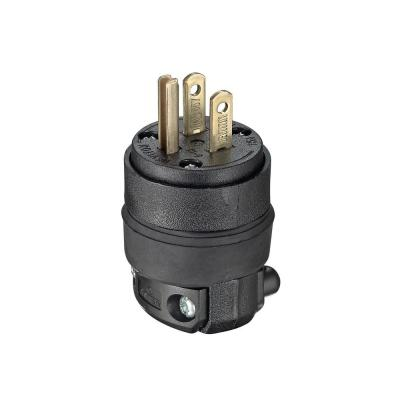 15 Amp 125-Volt Rubber Grounding Plug