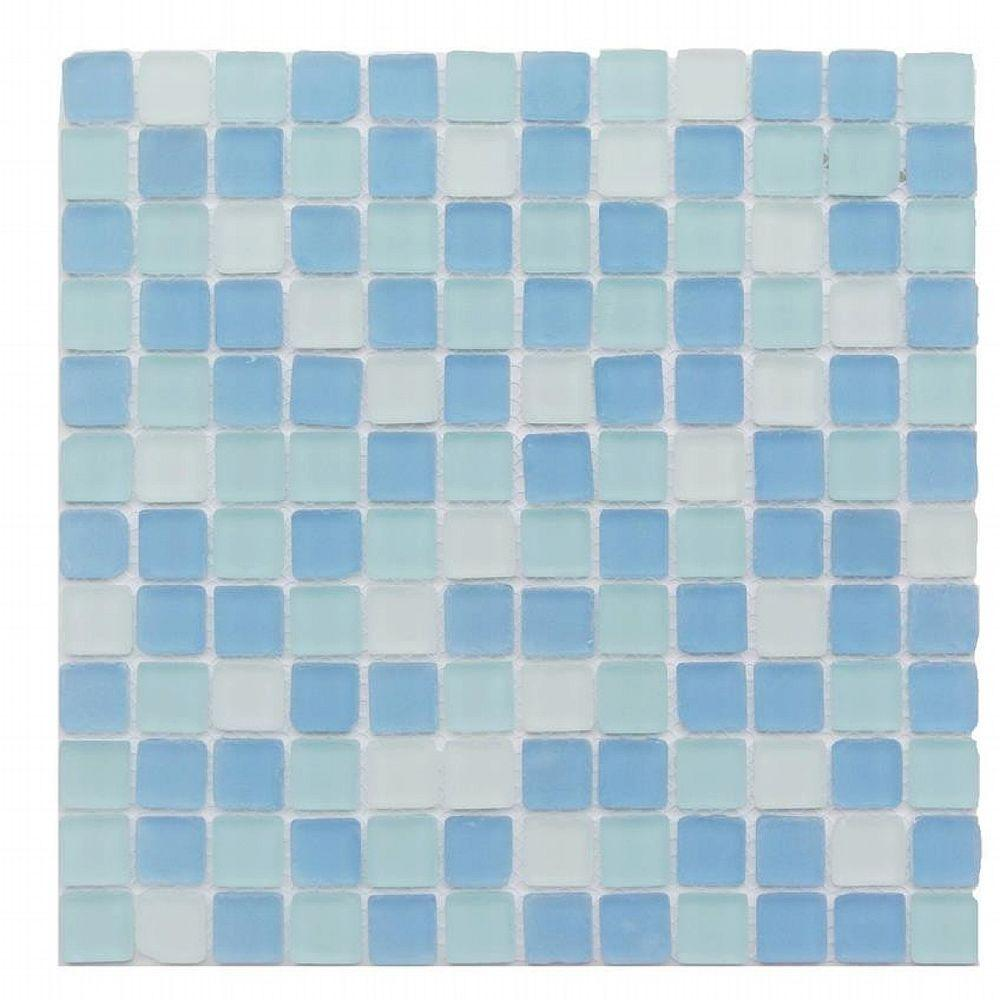 Splashback Tile Ocean Wave Beached 12 In X 8 Mm Frosted