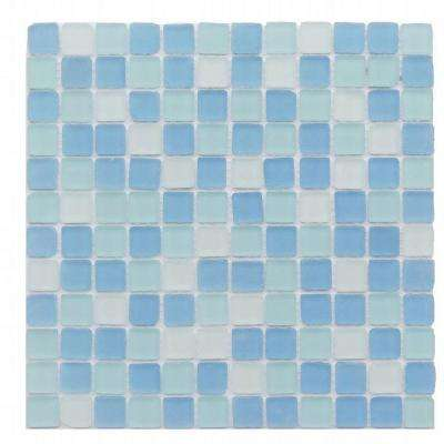 Ocean Wave Beached Frosted Glass Mosaic Tile - 3 in. x 6 in. Tile Sample