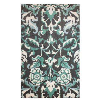 Penelope Plush Knit Duck Egg Blue 1 ft. 10 in. x 4 ft. 8 in. Accent Rug