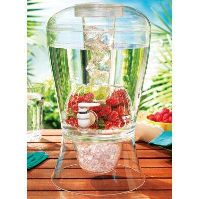 Acrylic 2 Gal. Beverage Dispenser Ice and Fruit Infuser
