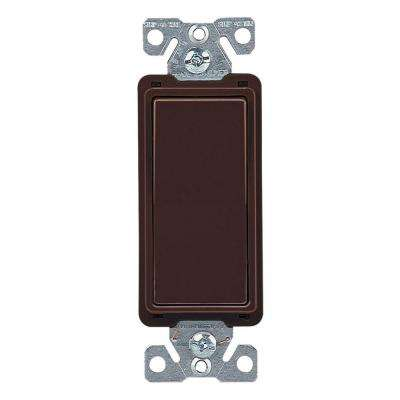 15 Amp 4-Way Rocker Decorator Switch, Brown