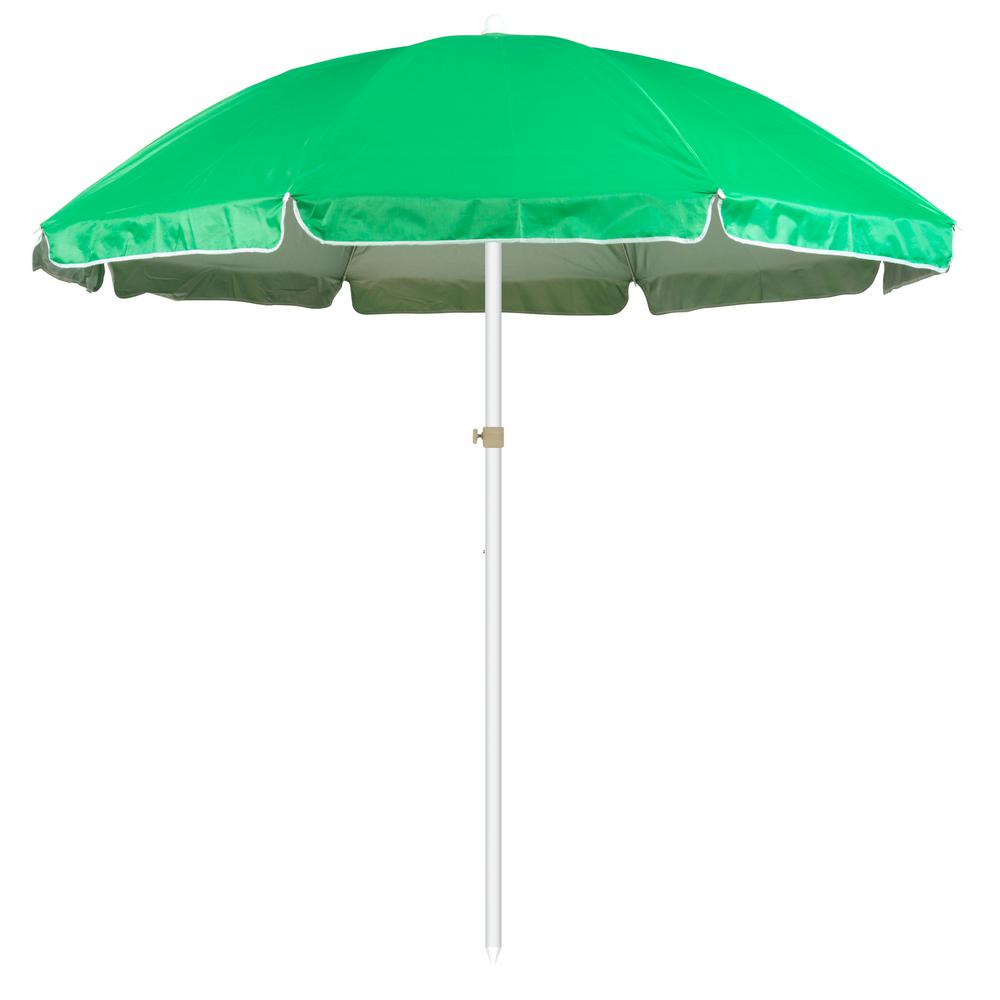 Trademark Innovations 6 5 Ft Market Portable Beach And Sports Patio Umbrella In Green
