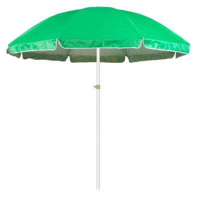6.5 ft. Market Portable Beach and Sports Patio Umbrella in Green