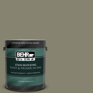 Behr Ultra 1 Gal 400f 6 Grasshopper Wing Semi Gloss Enamel Exterior Paint And Primer In One 585301 The Home Depot