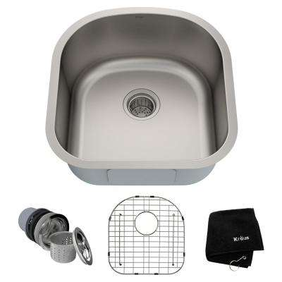 Premier Undermount Stainless Steel 20 In Single Bowl Kitchen Sink