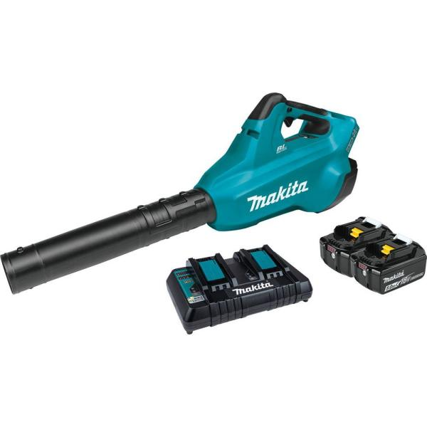 120 MPH 473 CFM 18-Volt X2 (36-Volt) LXT Lithium-Ion Brushless Cordless Blower Kit with 2 Batteries 5.0Ah and Charger