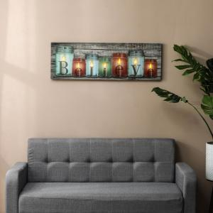 Believe Canvas Print Wall Art With Led Lights Wha660 The