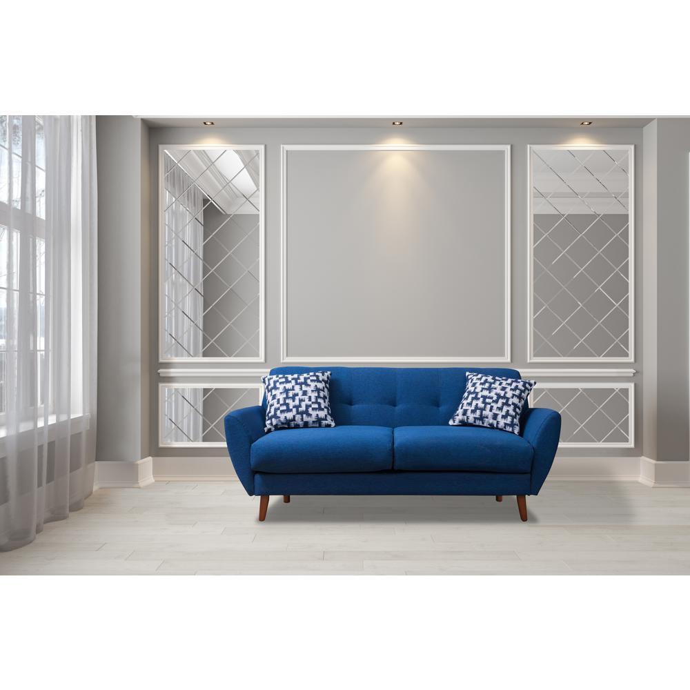 Cool Crawford Burke Toronto 71 In Blue Linen Sofa Hcb168003S Cjindustries Chair Design For Home Cjindustriesco
