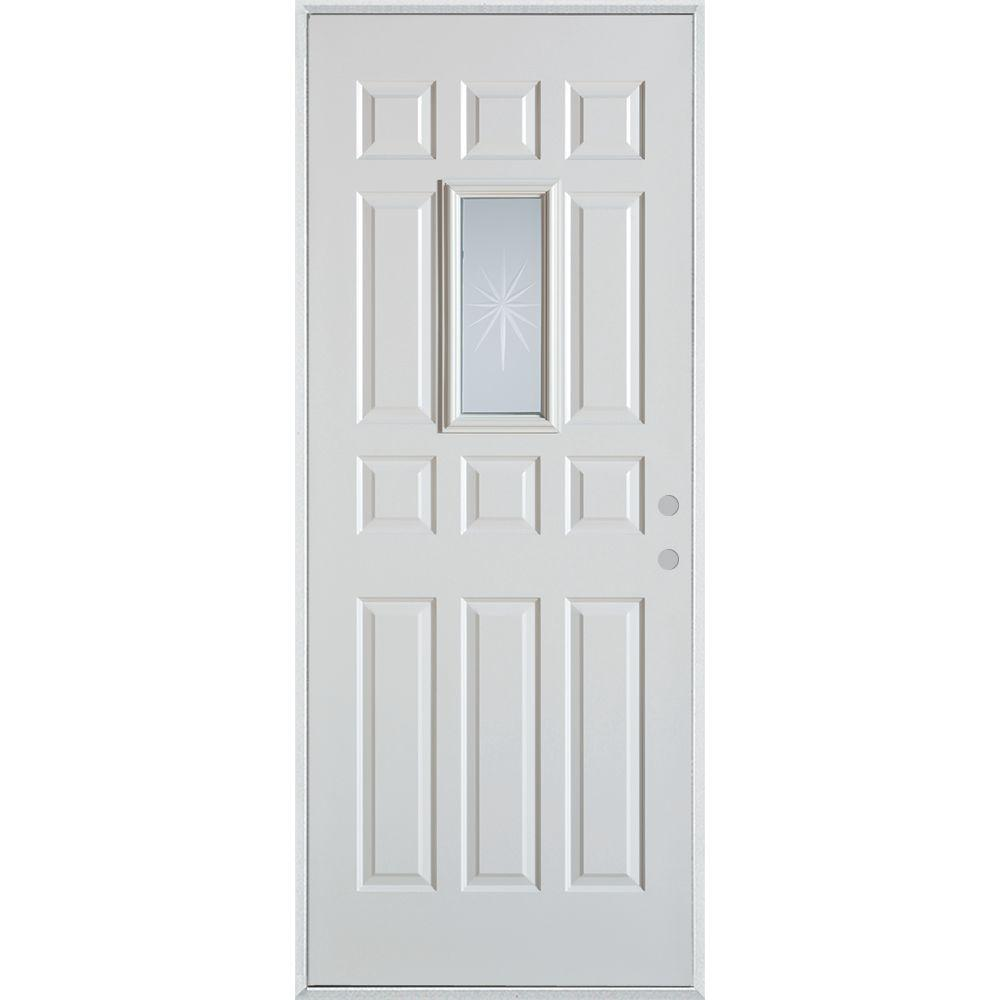 Stanley doors 36 in x 80 in v groove rectangular lite 12 for 12 lite door