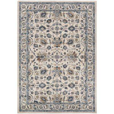 Monarch Kerman Vase Antique Cream-Slate 7 ft. 10 in. x 11 ft. 2 in. Area Rug