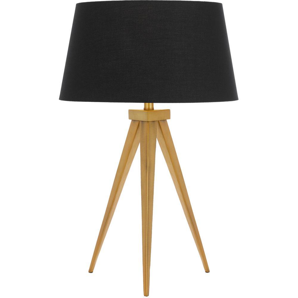Af Lighting Sinatra 25 In Antique Gold Black Table Lamp