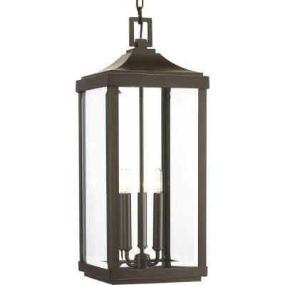 Gibbes Street Collection 3-Light Outdoor Antique Bronze Hanging Lantern