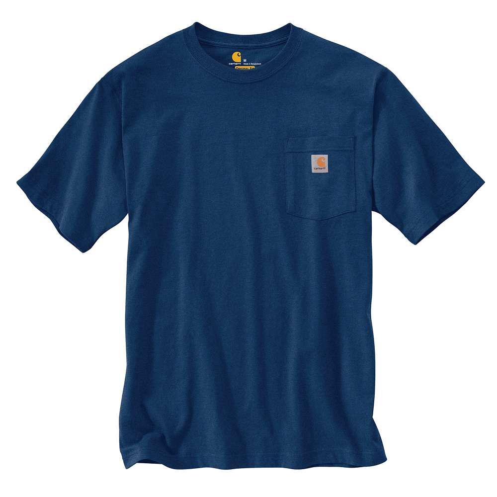 Men's Tall XX Large Dark Cobalt Blue Heather Cotton/Polyester Short-Sleeve T-Shirt