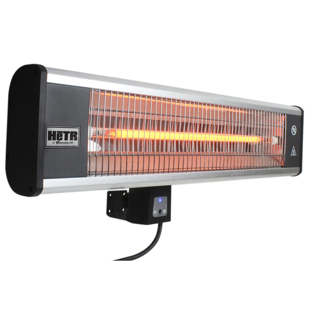 HeTR 1500-Watt Wall Mounted Radiant Electric Patio Heater with Remote Control  sc 1 st  The Home Depot & Electric - Patio Heaters - Outdoor Heating - The Home Depot