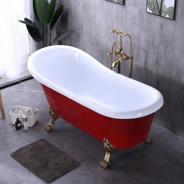 Vintage Tub /& Bath Lily 67 Inch Acrylic Double Ended Freestanding Tub