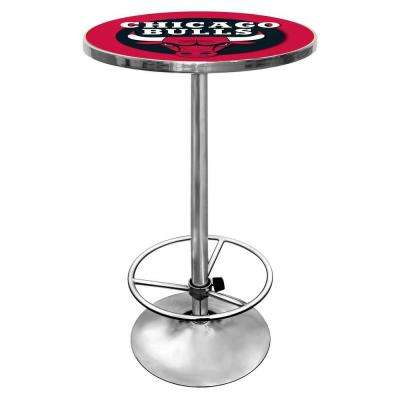 NBA Chicago Bulls Chrome Pub/Bar Table