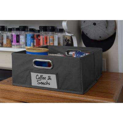 Cubo 12 in. x 6 in. Grey Folding Fabric Bin