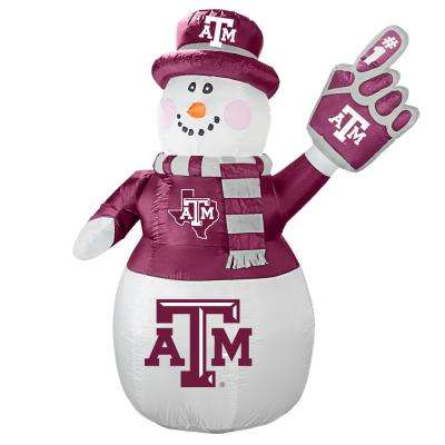 7 ft. Texas A and M Aggies Inflatable Snowman