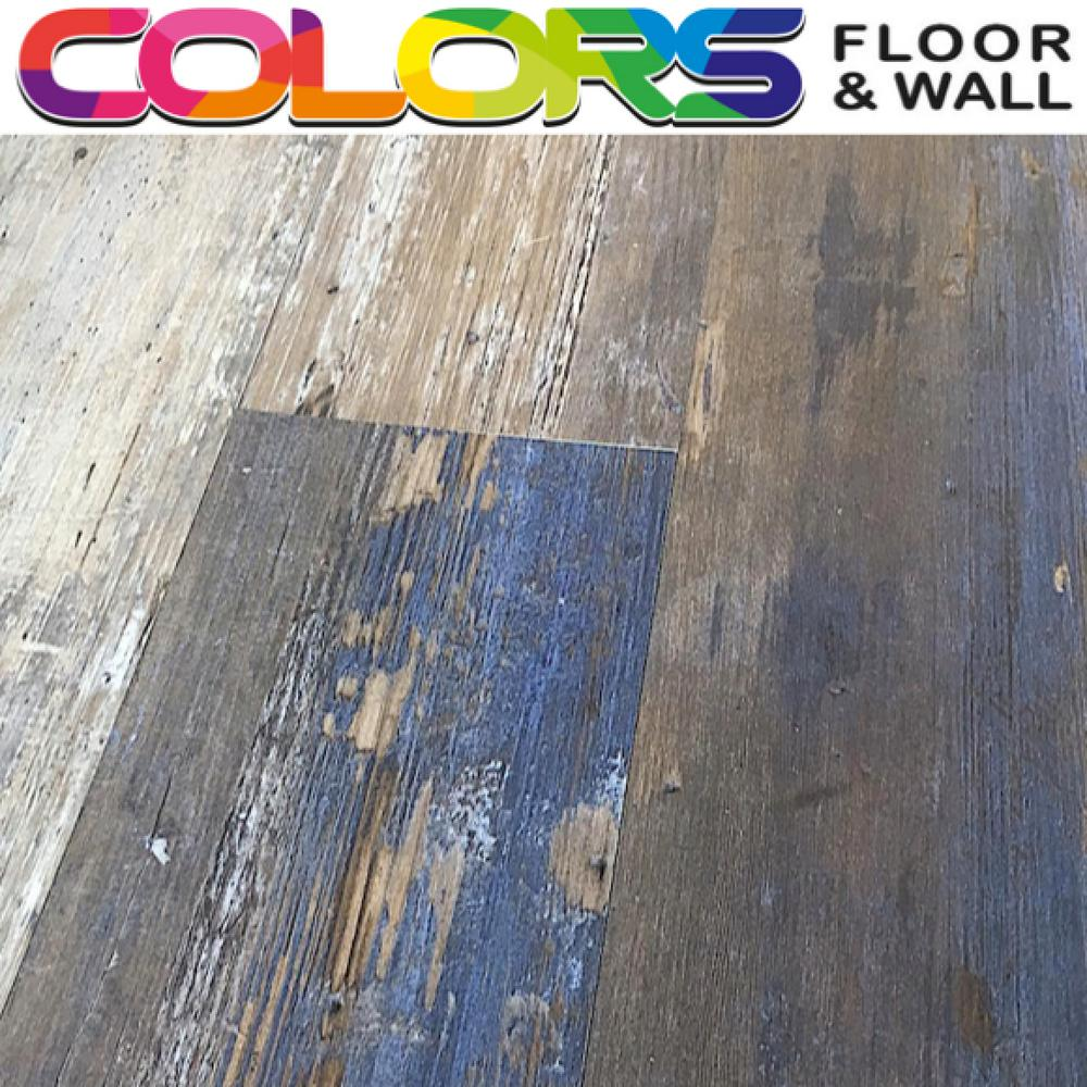 Deco Products COLORS Floor and Wall DIY Samba Wood Aged 6 in. x 36 in. Painted Style Glue Down Luxury Vinyl Plank (30 sq. ft. / case)