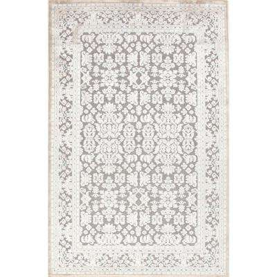 Fables Gray 12 ft. x 15 ft. Damask Rectangle Area Rug