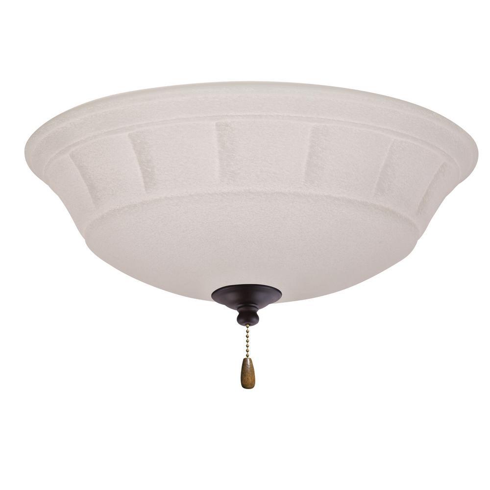 Grande White Mist 3-Light Oil Rubbed Bronze Ceiling Fan Light Kit