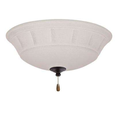 Grande White Mist 3-Light Oil Rubbed Bronze Ceiling Fan Light Kit