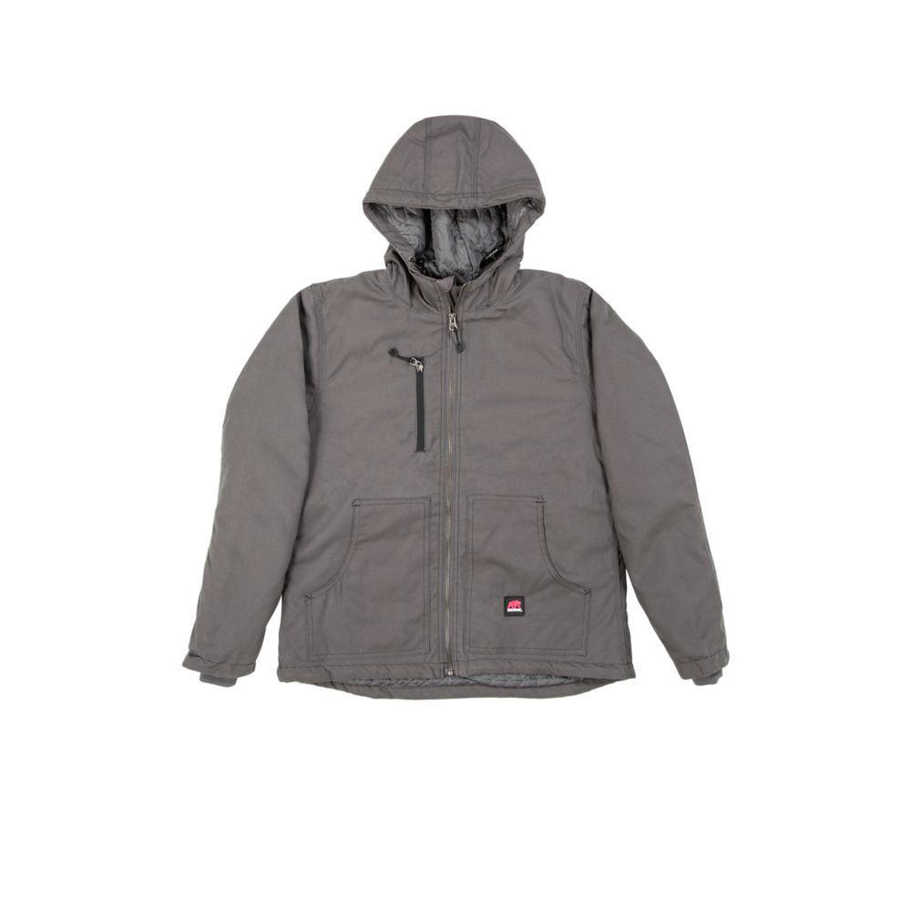 Women's Small Titanium 100% Cotton Modern Hooded Jacket