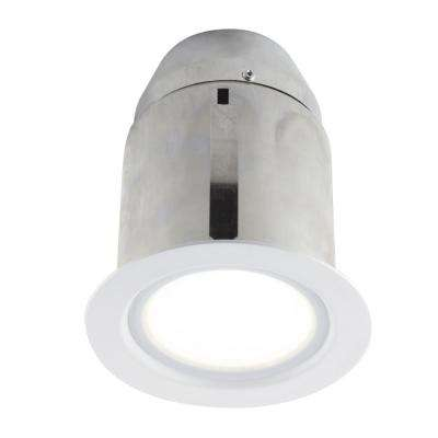White Intergrated Led Recessed Fixture Kit For Damp Locations