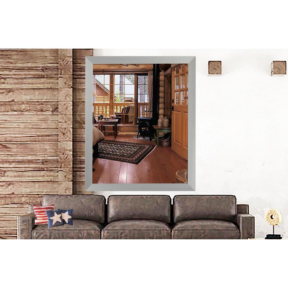 31 in. x 19 in. Juliet Soft Silver Vanity Wall Mirror
