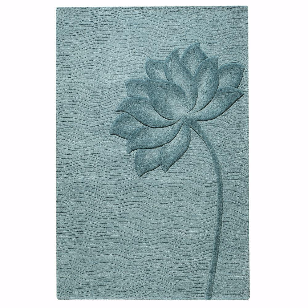 Home Decorators Collection Blooms Blue/Blue 8 ft. x 11 ft. Area Rug
