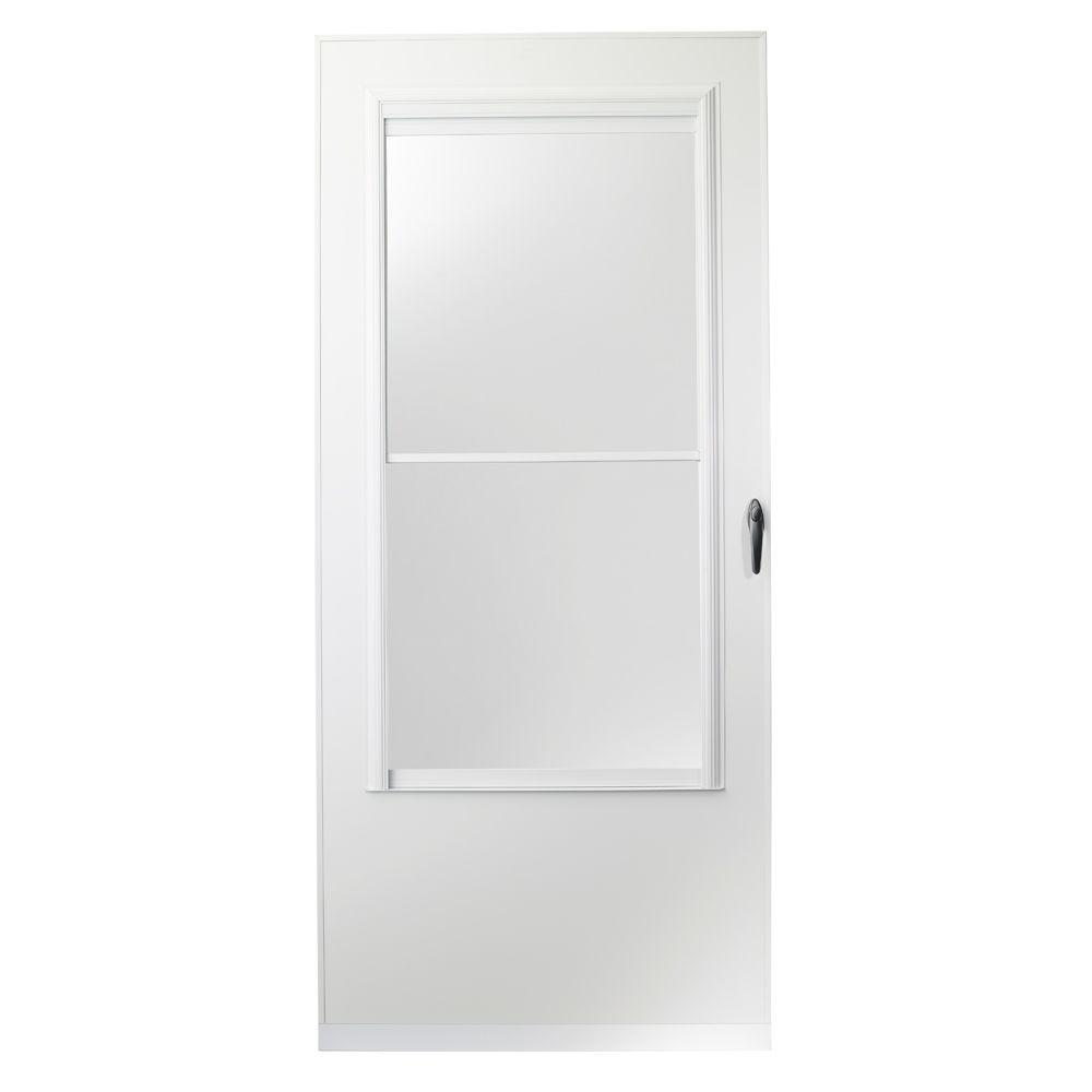Emco 32 in x 80 in 200 series white self storing storm for 32x80 storm door