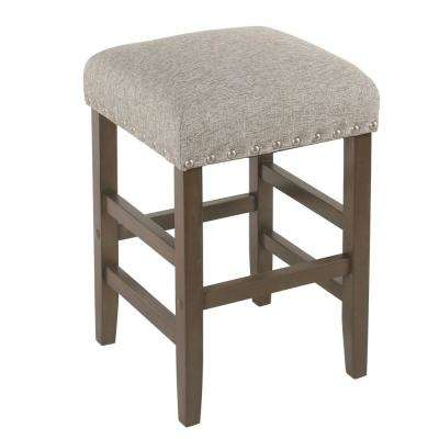 Open Backless 24 in. Brown and Tan Bar Stool