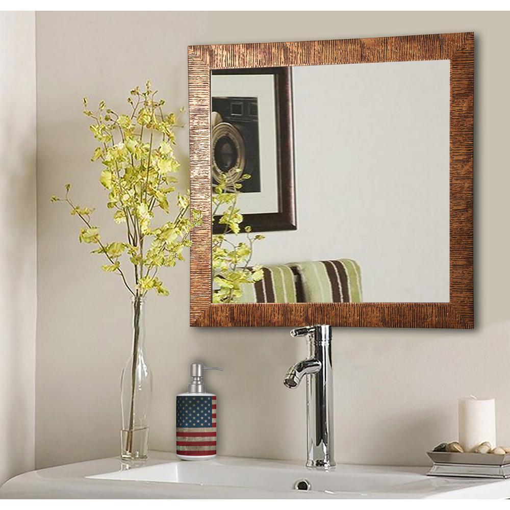 19.5 in. x 19.5 in. Safari Bronze Square Vanity Wall Mirror