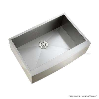 Farmhouse Apron Stainless Steel 30 in. Single Bowl Kitchen Sink 18-Gauge Zero Radius